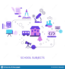 Graphic Design Subjects School Subjects Design Concept Stock Vector Illustration