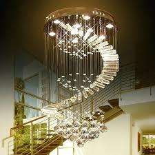 crystal light fixtures luxury led raindrop chandelier crystal light led bulb lamps flush mount staircase lighting crystal light fixtures