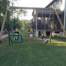 picture of free standing a frame swing set