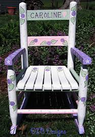 beautifully hand painted childs rocking chair wood rocker rocking chair paint