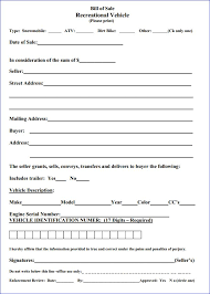 Florida Auto Bill Of Sale Form Free Download Free Massachusetts Recreational Vehicle Bill Of