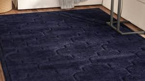 enthralling navy blue area rug at charlton home millvale reviews wayfair