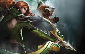 wallpaper style archer red lerala defense of the ancients