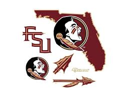 fsu decor awesome florida state seminoles state of florida logo wall decal