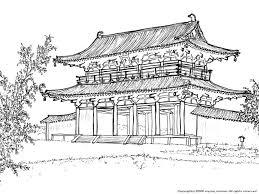 平城宮の下絵世界遺産のぬりえ日本