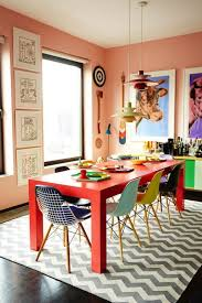 colorful dining rooms. Match Dining Table And Chairs Colorful Rooms R