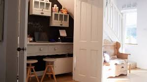 small space home office. Wasted Space Under The Stairs Is Converted Into A Home Office, And  Doors Can Small Office