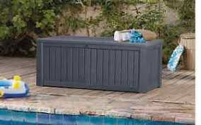 outdoor storage boxes plastic. image is loading grey-keter-extra-large-garden-plastic-outdoor-storage- outdoor storage boxes plastic