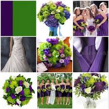 Purple and green wedding colors Pink Our Colour Scheme Is Purple Green And Creamwhite The Pink Bride What Is Your Wedding Palette Going To Be