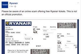 Of For Tickets Scam Free Ryanair Irish - Warns Facebook Offer Mirror Fake Online