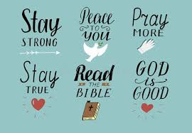 Christian Quotes On Peace Best of Set Of 24 Hand Lettering Christian Quotes With Symbols Stay Strong