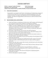 12 Teacher Job Description Samples Sample Templates