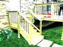 exterior wood stair railing installation staircase kits interior