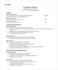 Music Teacher Resume Template Mesmerizing Teacher Resume Examples 28 Free Word PDF Documents Download
