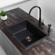 Granite Undermount Kitchen Sinks Kraus Kgd410b 24 Inch Undermount Drop In Single Bowl Granite