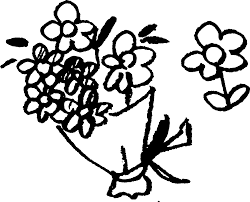 花束 かわいいゆるい無料イラストてがきですのβ