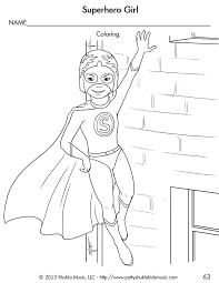 Girl Superhero Coloring Pages For Kids