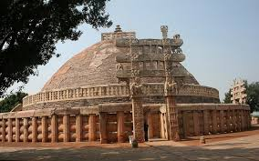 famous ancient architecture. The Buddhist Vihara At Sanchi Is Also Known As Great Stupa One Of The  Most Famous Monument In India, Located Town Raisen District. Ancient Architecture D