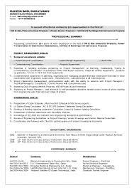 Sample Resume For Electrical Engineer In Construction Resume