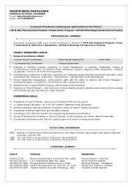 Resume Of Electrical Engineer Electrical Engineer Cv Sample