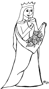 Elizabeth Of Hungary Coloring Page