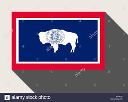 Wyoming Website Design American State Of Wyoming Flag In Flat Web Design Style