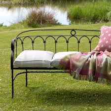 wrought iron garden furniture. Wrought Iron Garden Bench Furniture