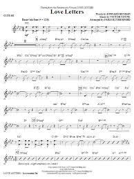 I am sharing this music with my friends and the luved it! Paris Rutherford Love Letters Guitar Sheet Music Pdf Notes Chords Jazz Score Choir Instrumental Pak Download Printable Sku 269831