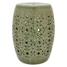 ceramic garden stool. Delighful Stool Green Ceramic Garden Stool Throughout R