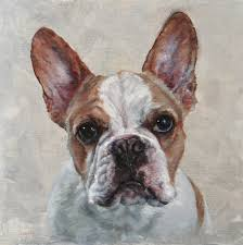 french bulldog art custom dog portrait oil painting on canvas pet portrait commission by