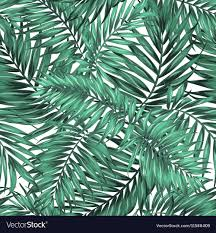 Palm Leaf Pattern Amazing Seamless Tropical Jungle Palm Leaves Pattern Vector Image