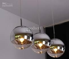 brilliant glass ball pendant light tom dixon mirror shade pendant light creative silver pink