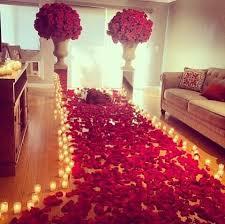 Living room romantic setting