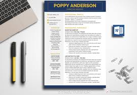 Business Resume Template Poppy Anderson Bestresumes