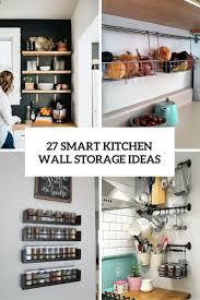 smart kitchen wall storage ideas cover
