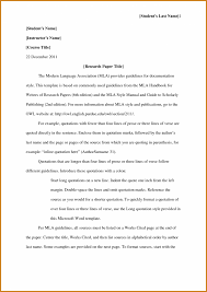 Mla Research Paper Format Notary Letter Works Cited Page Cover