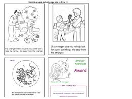 It's wonderful that, through the process of drawing and coloring, the learning about things around us does not only become joyful. Stranger Danger Worksheets Jaimie Bleck