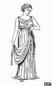 Small Picture Ancient Greek Olympics Coloring Pages Greek woman or lady with