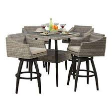 grey outdoor patio sets. cannes 5-piece all-weather wicker patio bar height dining set with slate grey outdoor sets g
