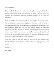 Thank You For The Hard Work Letter 49 Printable Employee Recognition Letters 100 Free