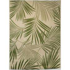 palm leaves green 5 ft 3 in x 7 ft indoor outdoor