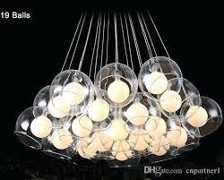 glass bulb chandelier modern led pendant light ball art glass chandelier for living room bar chandeliers