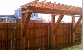 Fence Pergola Designs Pergola Coming Off Of Back Wall Extending As Far As Possible