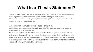 what is a thesis statement students have heard the term thesis what is a thesis statement