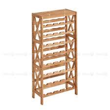 lyon solid wood wine rack