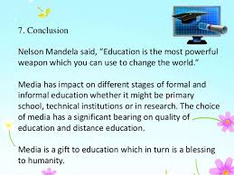 impact of media on education 29