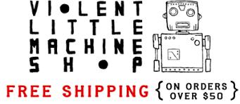 machine shop logo. violent little machine shop logo