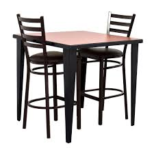 76 Off Counter Height Kitchen Table And Two Chairs Tables Modern