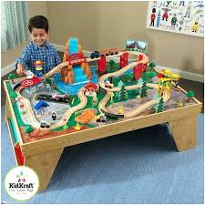 kidkraft wood train wooden train set city explorer wooden train set play table