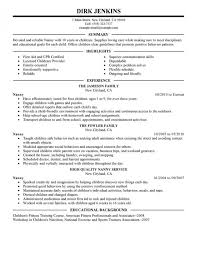 sample career objectives for resume  nanny resume  datalogic conanny